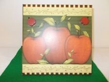 Metal Tin Standing Messge Board with Apple Design, 2 Magnetic Apples