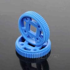 2pcs Plastic Blue 64T MXL Gear For Track Robotic Part Car Wheel Model