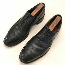 "$395 ALLEN EDMONDS ""Boulevard"" Black Brogue Wingtip Dress Shoes - 10 C"