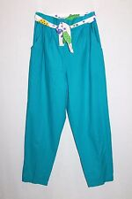 NEW EDITION Designer Funky Blue 70's Disco Style Pants Size 14 BNWT #SH38