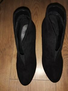 LADIES Wallace Black Ankle boots Uk Size 5 Bnwob