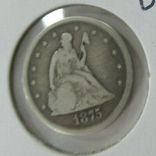 US 1875-S Twenty Cent Piece (20¢) Seated Liberty in Good Condition!!