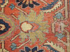 Antique Persian Heriz Serapi rug estate wonderful  carpet 7'10''x12'4'' ca.1880