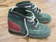 Kickers Boys Boots Size 5 Green/Red