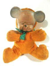 VINTAGE ANTIQUE BEAR RUBBER FACE TEDDY BEAR BROWN COLOR CREAM CRYING