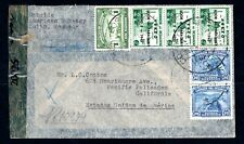 Ecuador - 1944 Registered Airmail Censor Cover from the American Embassy to USA