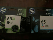 New HP 65XL Black and 65 Tri Color Combo Combination Ink Cartridges 2022