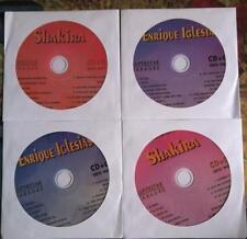 4 CDG SPANISH KARAOKE DISCS HITS OF SHAKIRA/ENRIQUE IGLESIAS CD+G ENGLISH,MUSIC