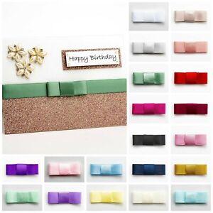 Dior Flat 5cm Satin Bows  Self Adhesive Pre Tied Sticky Ribbon Bow Wedding Craft