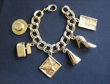 FRED HAYMAN Charm Bracelet 273 Rodeo Beverly Hills Perfume Gold Tone Metal