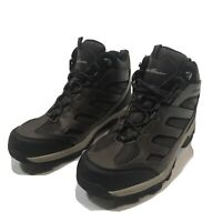 EDDIE BAUER Men's Graham Hiking Boots Waterproof Leather Brown US Size 8.5