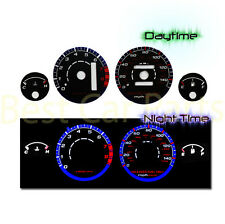 BLACK 94-01 Acura Integra RS/GS/LS AT INDIGLO GLOW BLUE/WHITE EL REVERSE GAUGES