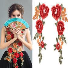 1Pair Parche bordado flor etiqueta remiendos costura Parches Decoración Ropa