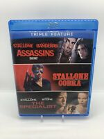 Sylvester Stallone Assassins Cobra The Specialist Blu ray Disc Rare! OOP!