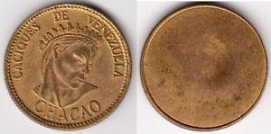 Venezuela gilt-copper Proof Uniface Obverse Trial Strike Essai Chacao Caciques