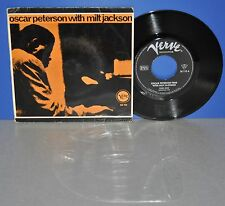 "7"" Oscar Peterson with Milt Jackson Work Song/Reunion Blues D Verve Vinyl Single"
