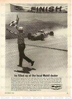 1965 Mobil Oil Vintage Magazine Ad Al Unser at 1965 Pikes Peak Auto Hill Climb