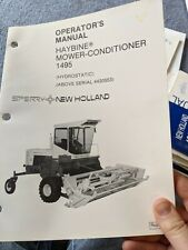 New Holland 1495 Haybine Owners Operation Amp Maintenance Manual Book Catalog