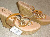 NEW Miss Trish Of Capri For Target Tan Seahorse Platform Wedge Sandals 11