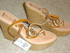 9475ca78beb0b5 Miss Trish of Capri for Target Tan Seahorse Platform Wedge Sandals 11