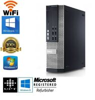 Dell OptiPlex 790/990 Intel i5 Quad SFF or DT Windows 7/10  4GB/8GB WiFi PC
