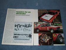 Vintage Tech Info Article on Scott Shafiroff and His '68 Camaro Drag Car