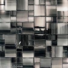 1SF- Hand Brushed Patten Glass Mosaic Tile For Kitchen Backsplash Bath Sink Pool