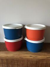 More details for vintage tupperware coloured containers x 4