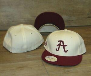 Alabama Crimson Tide Vintage Logo Stall & Dean Fitted Hat Cap Men's Size 7 1/2
