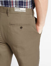 """M&S Tailored Fit ~ Premium Linen Blend Trousers ~ 40"""" W 29"""" L ~ PUTTY ~ BNWT £39"""