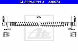 Flexible de frein PEUGEOT 106 I (1A, 1C) 106 II (1) 106 Mk II (1) 106 Van (1_) 1