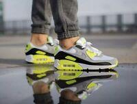 Nike Air Max 90 OG White Gray Volt Black CD0881-103 Running Shoes Men's New