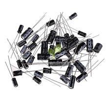 120Pcs 1uF~470uF 10  Value Electrolytic Capacitors Assortment Kit Assorted Set