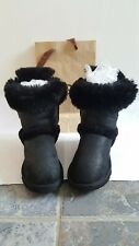 Original/ ugg uggs leather boots size 4.5 or eu 37 in a black colour.
