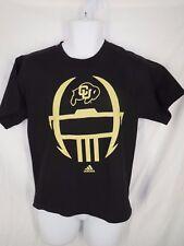 Colorado Buffaloes Youth Size L Large 14/16 Black Adidas Shirt MSRP $18