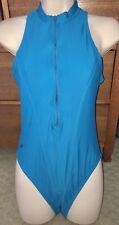 Vintage Speedo High Neck zipper Swimsuit Swim Suit Hydrasuit Sz 10