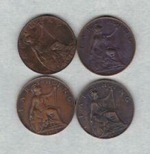 More details for four 1902/1904/1905 & 1909 edward vii farthings in extremely fine condition
