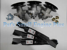 Toro LX500, GT2100 GT2200 Lawn Mower Blade Spindle Kit w/bolts & Blades DECKIT17
