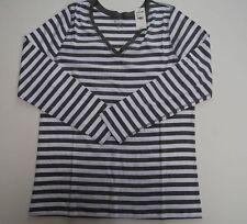 Women's Lane Bryant top gray cotton v-neck long sleeve $27 tag plus size 18/20