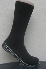1 Paar Damen Stoppersocken Socken mit rutschfester ABS Sohle dunkelgrau 35 - 42