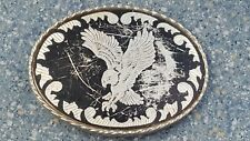 Soaring Eagle Silver Black USA Belt Buckle Collectible
