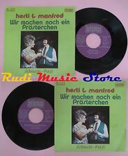 LP 45 7'' HERTI & MANFRED Wir machen noch ein prosterchen Schnucki no cd mc dvd