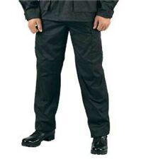 Black Military BDU Cargo Fatigue Rip Stop Pants Rothco 5923