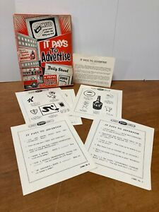 Vintage 1950's It Pays to Advertise A Pepys Party Game