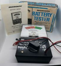 Micronta, Battery Tester, W/Box and Manual, Tested, 1.5-22.5V, Easy To Read