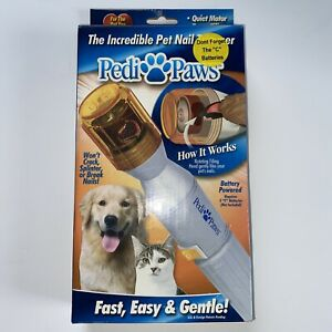 New Pedi Paws Pet Nail Trimmer Clipper Grooming Tool Dog Cat Open Box Tested