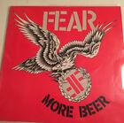 "FEAR ""More Beer"" Vinyl LP Original 1985 Enigma/Restless Records VG++ / EX"