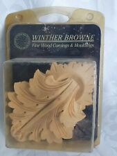 12cm Winther Browne Fine Wood Mouldings PAIR Carving ACANTHUS LEAVES Hardwood