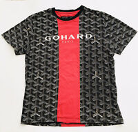 Men's Gohard Paris Hudson Outerwear T-Shirt Print Red Black Large