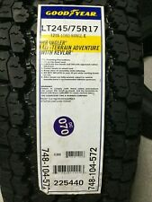 1 New LT 245 75 17 LRE 10 Goodyear Wrangler A/T Adventurer With Kevlar Tire